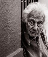 Homeless Man Afraid