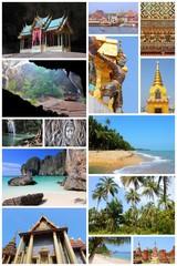 Thailand. Travel collage.