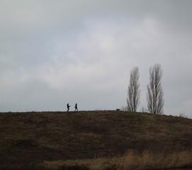 Spaziergang auf der Anhöhe