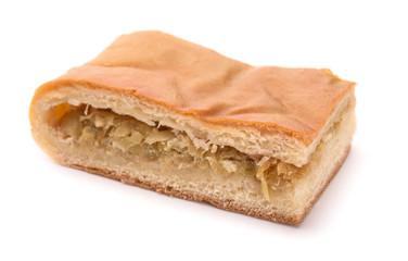 Piece of cabbage pie