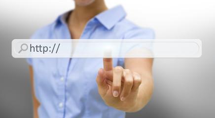 Businesswoman internetconcept