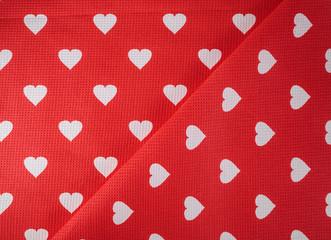 Hearts on fabric