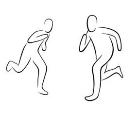 running gestures