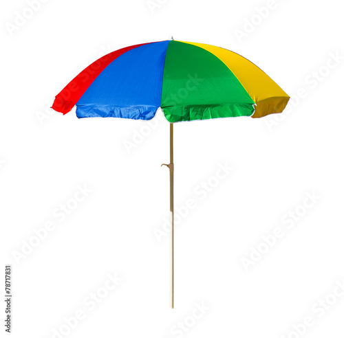 beach umbrella isolated on a white background - 78717831