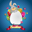 White egg and bunny