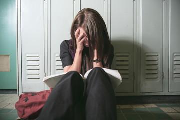 A college woman feel depress in school