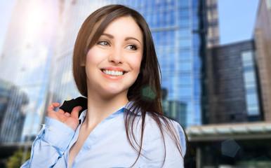 Businesswoman portrait outdoor