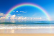 Beautiful sea with a rainbow in the sky - 78718415