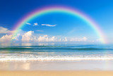 Fototapety Beautiful sea with a rainbow in the sky