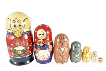 Nesting Dolls on fairy tale Kolobok