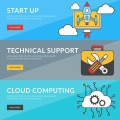 Concept for start up, technical support, cloud computing
