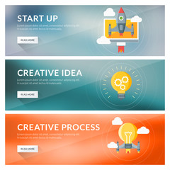 Concept for start up, creative idea, creative process