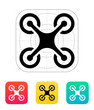 Quadcopter icon. - 78719097