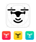 Wireless quadcopter icon. poster