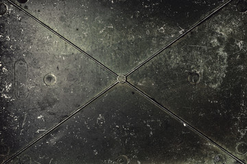 Metal surface.