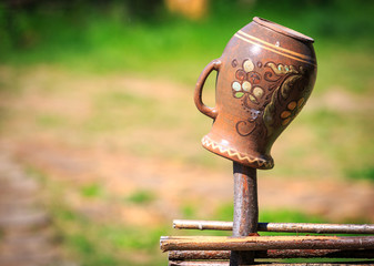 Traditional Ukrainian clay pot