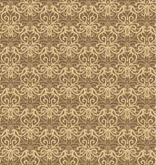 Intricate Beige and Brown Luxury Seamless Pattern