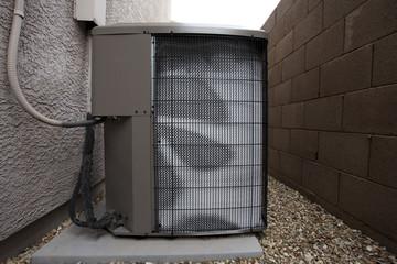 Air Conditioner Outdoor Unit in Winter