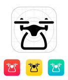 Quadcopter side view icon. poster