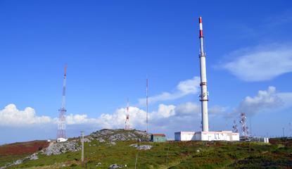 Telecommunication station on the highest mountain in the Algarve
