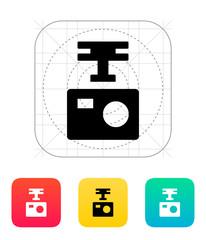 Portable drone camera icon.