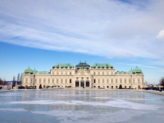 Belvedere Palace in winter