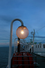 The lantern on the ferry