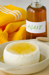 Agave Syrup and Cottage Cheese