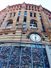 Gasometer circular historical building in vienna