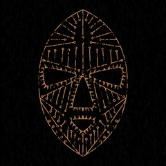 African mask grunge