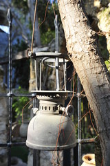 Old rusted paraffin stove