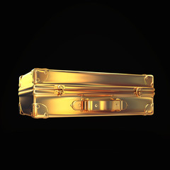 Beautiful golden briefcase representing  business