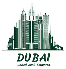 City of Dubai UAE Famous Buildings