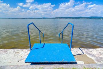 Lake Balaton in Hungary in summer