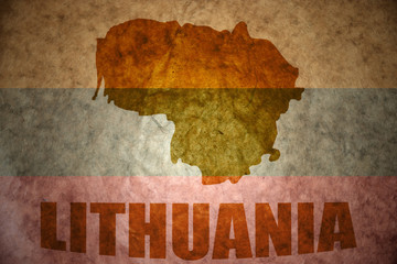 vintage lithuania flag