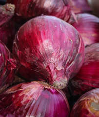 Red onions in the market at Puerto Vallarta