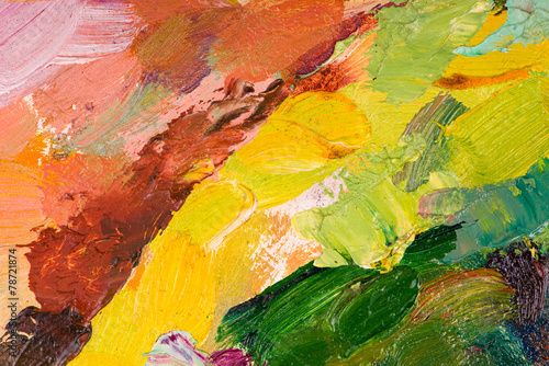 Leinwandbild Motiv Oil painting abstract brushstrokes