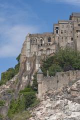 Fragment of Mont Saint Michel (France).
