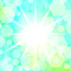 Star with bokeh effect. Vector. 2