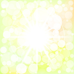 Star with bokeh effect. Vector. 8