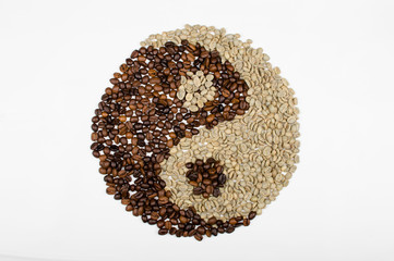 yin-yang of coffee beans