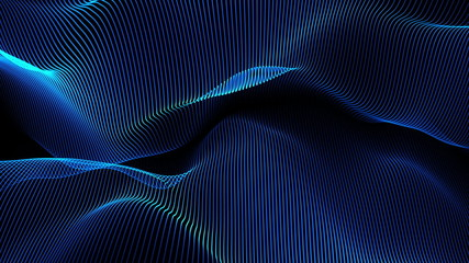 abstract background animation - waves (loopable)