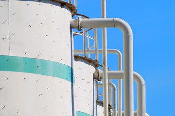 Oil and gas industrial tanks.
