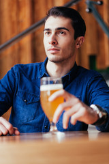 Handsome Man In Pub