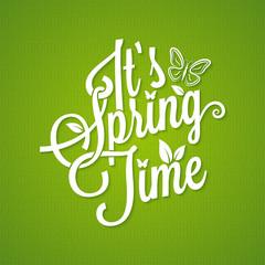 spring vintage lettering background
