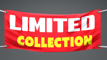Collezione limitata, esclusiva, striscione pubblicità