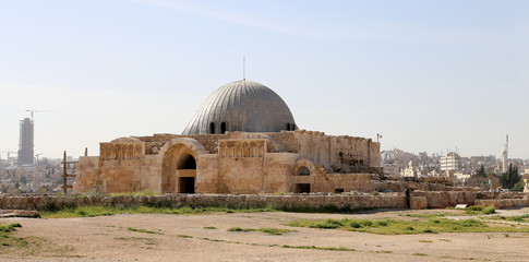 The old Umayyad Palace, citadel hill of Jordan's capital Amman