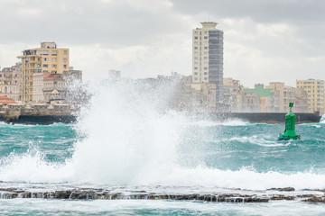 Tropical storm in Havana