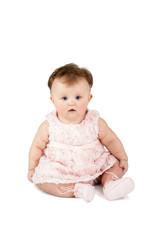 portrait of a cute baby sitting