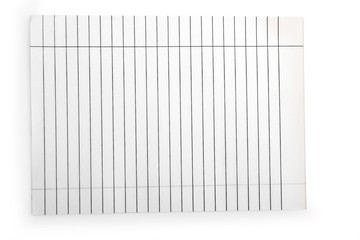 white paper in a line